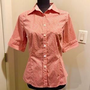 🔴 L. L. Bean Polka Dot Shirt